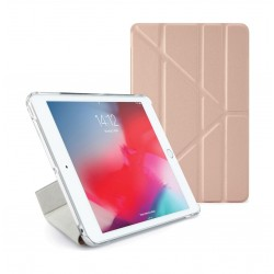 Pipetto Origami Folding Case and Stand for Apple iPad mini 5 2019 - Rose Gold & Clear