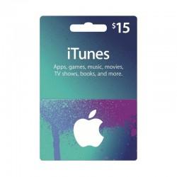 بطاقة ايتونز ١٥ دولار (متجر أمريكي) - إرسال فوري للرمز