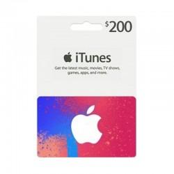 بطاقة ايتونز ٢٠٠ دولار (متجر أمريكي) - إرسال فوري للرمز