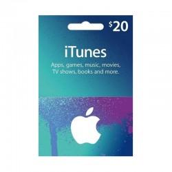 بطاقة ايتونز ٢٠ دولار (متجر أمريكي) - إرسال فوري للرمز