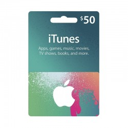 بطاقة ايتونز ٥٠ دولار (متجر أمريكي)
