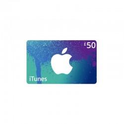 بطاقة ايتونز ٥٠ جنيه استرليني (متجر بريطاني)