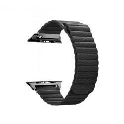 حزام جلدي لساعة أبل من بروميت - ٣٨ ملم - أسود