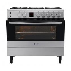 طباخ الغاز القائم من إل جي – ٩٠ × ٦٠ سم – ٥ شعلة (LF98V05S)