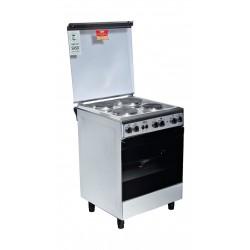 طباخ الغاز القائم بيسك - ٤ شعلات - ٦٠ x ٦٠ سم - ستانليس ستيل (6640D)