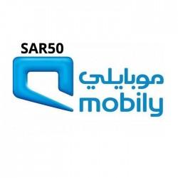 بطاقة موبايلي - ٥٠ ريال سعودي