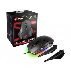 MSI Clutch GM60 USB Adjustable DPI Ergonomic Design Gaming Grade Optical Mouse - Black