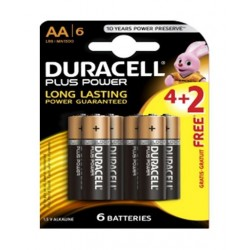 Duracell AA Plus Power Battery - 6 Pieces