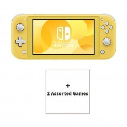 Nintendo Switch Lite Gaming Console Yellow + 2 Assorted Games 2