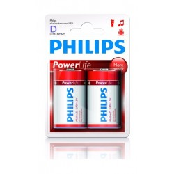 Philips Alkaline Battery D - Pack of 2