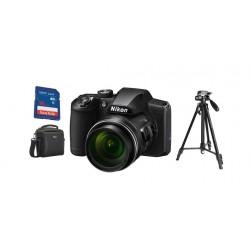 كاميرا ديجيتال نيكون كوول بيكس B600 + بطاقة ذاكرة + حقيبة كاميرا + ترايبود