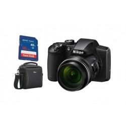 كاميرا ديجيتال نيكون كوول بيكس B600 + بطاقة ذاكرة + حقيبة كاميرا