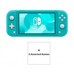 Nintendo Switch Lite Gaming Console Turquoise + 2 Assorted Games