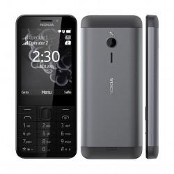 هاتف نوكيا ٢٣٠ - يدعم شريحتين - فضي غامق