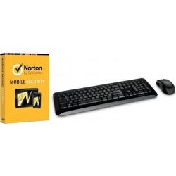 لوحة المفاتيح اللاسلكية ٨٥٠ مع برنامج مع برنامج الحماية نورتون موبايل سيكيوريتي