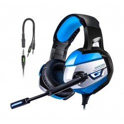Onikuma K5 Noise Cancelling Wired Gaming Headset - Blue