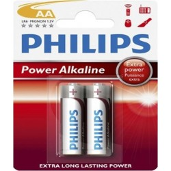 Philips  Alkaline Battery AA - Pack of 2