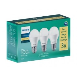 Philips Lightning E27 3000K 100W LED Light - 3Pcs