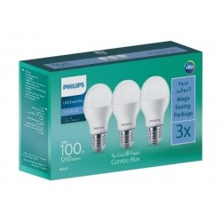 Philips Lightning E27 6500K 100W LED Light - 3Pcs
