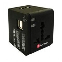 Baykron Travel Adapter with 2 USB Ports