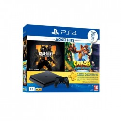 PlayStation 4 Slim 1TB + COD Black Ops + Crash Bandicoot + PSN 1 Month