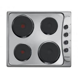 طباخ كهربائي سطحي ٤ شعلة بحجم ٦٠ سم من كاندي - ستانلس ستيل (PLE64X)
