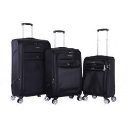 مجموعة حقائب بولو كلوب بيفيرلي هيلز - ٣ قطع مرنة - أسود