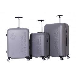 مجموعة حقائب بولو كلوب بيفيرلي هيلز - ٣ قطع صلبة - رمادي