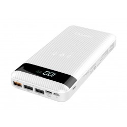 Promate Auratank 20,000mAh Quick Charge Power Bank - White