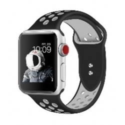 Promate Dual Toned Breathable Sporty 42mm Apple Watch Band - Black/White