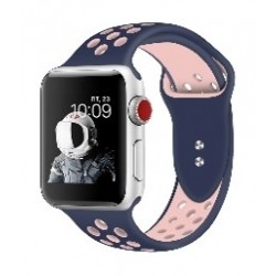 Promate Dual Toned Breathable Sporty 42mm Apple Watch Band - Blue/Pink