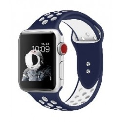 Promate Dual Toned Breathable Sporty 42mm Apple Watch Band - Blue/White