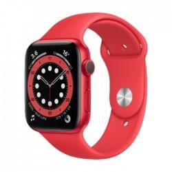 ساعة أبل الجيل السادس جي بي إس الذكية بإطار ألمنيوم وبحجم 44 ملم – أحمر