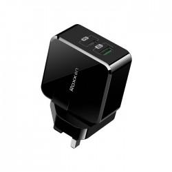 Roxxon 30W PD + QC Wall Charger (UK Plug) - Black