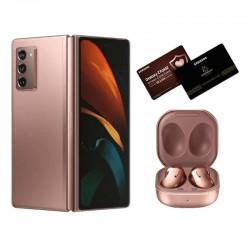 اطلب مسبقا: هاتف سامسونج جالاكسي مطوي 2 بسعة 256 جيجابايت وتقنية 5 جي - برونزي