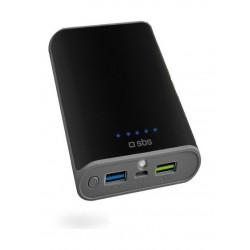 SBS Quick Charge 3.0 10400 mAh Powerbank + Flashlight