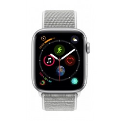 Apple Watch Series 4 44mm, Silver Aluminium Case, Seashell Sport Loop