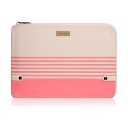 Monocozzi Gritty Ultra-Slim Sleeve For MacBook Pro 13-inch W/ USB-C & Macbook Air 12-inch - Coral Pink