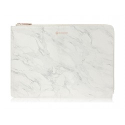 Monocozzi POSH Ultra-Slim Faux Leather Sleeve  For MacBook Pro 13-inch W/USB-C - Marble White