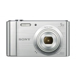 كاميرا سوني الرقمية المدمجة بجودة ٢٠ ميجابيكسل (DSC-W800) - فضي