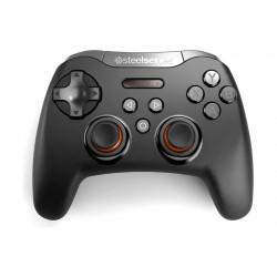 يد تحكم ألعاب لاسلكية بتقنية البلوتوث من ستيل سيريز - أسود (Stratus XL)