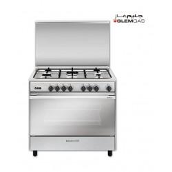 Glem Gas 90x60 cm 5-Burner Floor Standing Gas Cooker (SE967GIFS) - Stainless