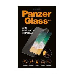 واقي الشاشة الزجاجي لهاتف أيفون إكس  من بانزر – أبيض (٢٠١٧)