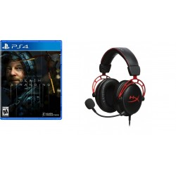 لعبة ديث ستاندينج الإصدار القياسي - بلاي ستيشن ٤ + سماعة الألعاب السلكية كينجستون هايبركس كلاود الفا برو