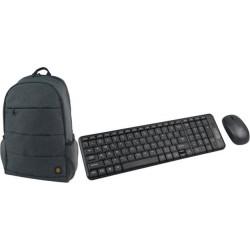 لوحة مفاتيح ديسك توب لاسلكية من اكسل (KB-200WL) مع حقيبة ظهر لللابتوب والتابلت