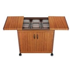 عربة تدفئة الطعام من ونسا (3DTSLLB)