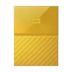 القرص الصلب الخارجي ماي باسبورت سعة ٤ تيرا بايت ومنفذ يو إس بي ٣,٠ من ويسترن ديجيتال - أصفر
