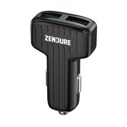 Zendure 30W Car Charger with QC 3.0 and Dual USB - Black