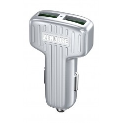 Zendure 30W Car Charger with QC 3.0 and Dual USB - White