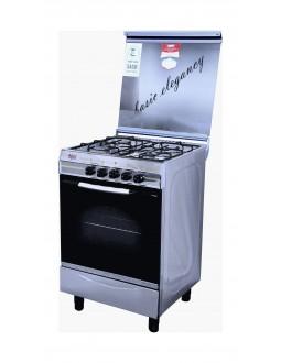 طباخ الغاز القائم بيسك - ٤ شعلات - ٥٥ x ٥٥ سم - ستانليس ستيل (4404S)